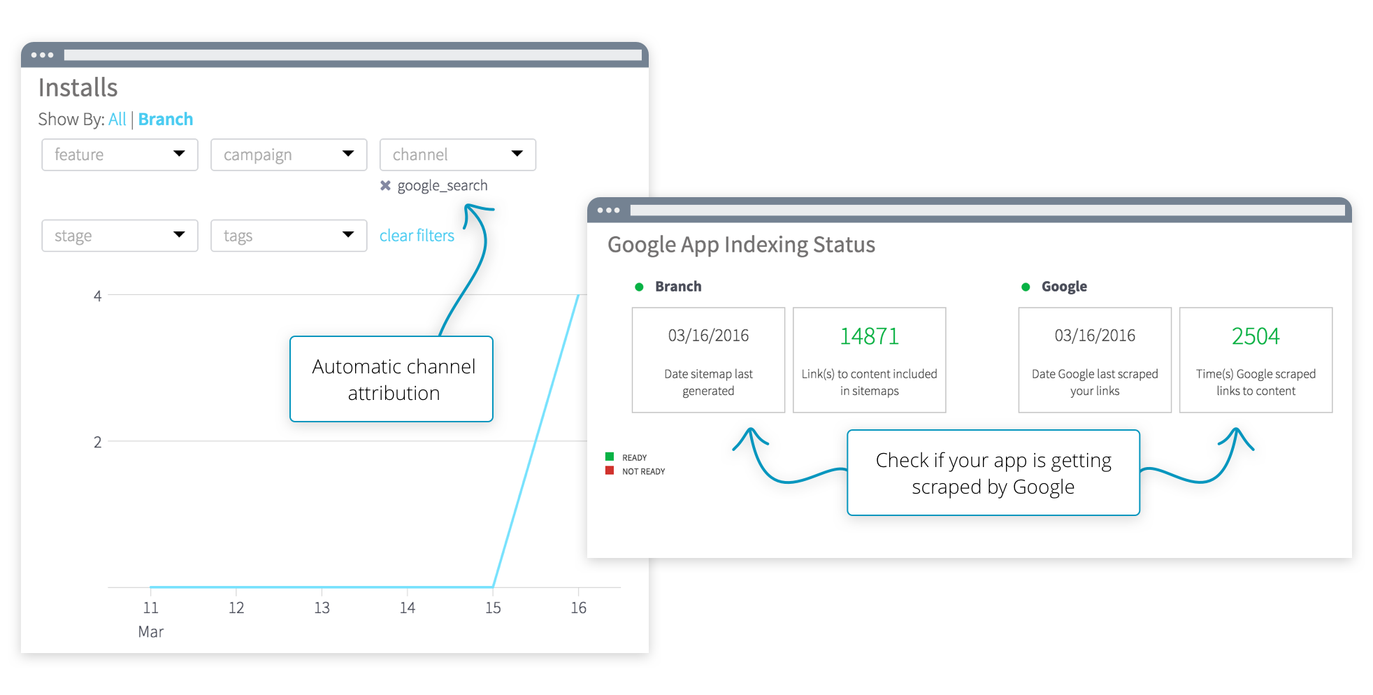 Attribute App Indexing Clicks